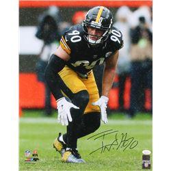 T. J. Watt Signed Pittsburgh Steelers 16x20 Photo (JSA COA  Watt Hologram)