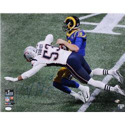 Kyle Van Noy Signed New England Patriots Super Bowl Llll 16x20 Photo (JSA COA  Sure Shot Hologram)