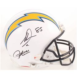 LaDainian Tomlinson  Antonio Gates Signed Los Angeles Chargers Full-Size Authentic On-Field Helmet (