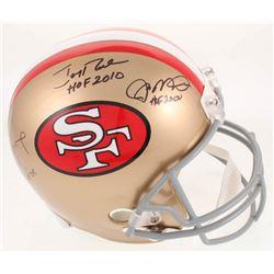 Joe Montana, Jerry Rice,  Steve Young Signed San Francisco 49ers Full-Size Helmet with (3) Inscripti