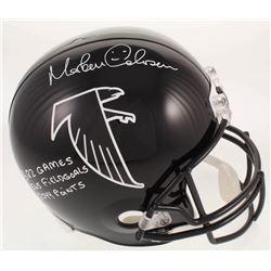 Morten Andersen Signed Atlanta Falcons Full-Size Helmet With Multiple Inscriptions (Radtke COA)