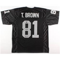 """Tim Brown Signed Jersey Inscribed """"HOF 2015"""" (Radtke COA)"""