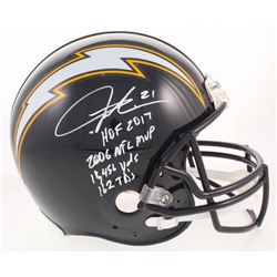 LaDainian Tomlinson Signed Los Angeles Chargers Throwback Full-Size Authentic On-Field Helmet with (