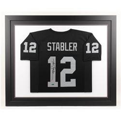 Ken Stabler Signed Oakland Raiders 35x43 Custom Framed Jersey (Radtke COA)