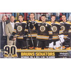 2014 Boston Bruins 11x17 Photo Signed By (5) with Tuukka Rask, David Krejci, Zdeno Chara, Patrice Be