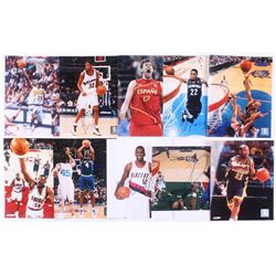 Lot of (10) Signed NBA 8x10 Photos with Andre Drummond, Jamaal Tinsley, Greg Oden, Michael Finley (J