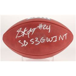 """Stephon Gilmore Signed """"The Duke"""" Official Super Bowl LIII NFL Game Ball Inscribed """"SB 53 GW INT"""" (J"""