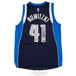 Dirk Nowitzki Signed Dallas Mavericks Adidas Jersey (Panini COA)