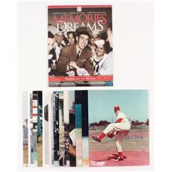 Lot of (14) Signed Baseball Flats with Pete Rose, Juan Marichal, Bob Feller, Warren Spahn (MAB COA