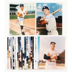 Lot of (25) New York Yankees Signed 8x10 Photos with Enos Slaughter, Don Larsen, Bobby Richardson, J