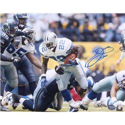 Emmitt Smith Signed Dallas Cowboys 16x20 Photo (JSA COA  Prova Hologram)