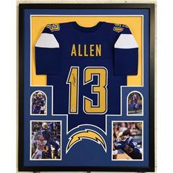 Keenan Allen Signed 34x42 Custom Framed Jersey (Beckett COA)