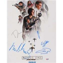 """""""Star Wars: Rogue One"""" 11x14 Photo Cast-Signed by (5) with Felicity Jones, Donnie Yen, Gary Whitta,"""