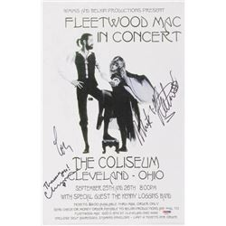 Fleetwood Mac  11x17 Poster Band-Signed by (3) with Mick Fleetwood, Lindsey Buckingham  Christine M