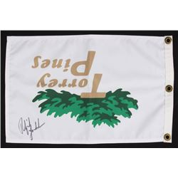 """Phil Mickelson Signed """"Torrey Pines"""" Golf Pin Flag (PSA COA)"""