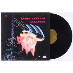 "Ozzy Osbourne  Tony Iommi Signed Black Sabbath ""Paranoid"" Vinyl Record Album (PSA COA)"