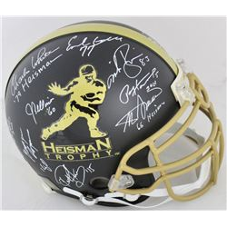 Heisman Trophy Full-Size Authentic On-Field Helmet Signed by (12) with Paul Hornung, Earl Campbell,