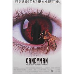 """Clive Barker Signed """"Candy Man"""" 27x40 Movie Poster (Radtke Hologram)"""