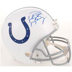 Peyton Manning Signed Indianapolis Colts Full-Size Helmet (Steiner COA, Radtke Hologram  Fanatics Ho