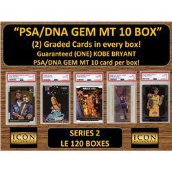 ICON AUTHENTIC  PSA GEM MT 10 CARD MYSTERY BOX (2) GRADED CARDS PER BOX! Guaranteed (one) Kobe Bryan