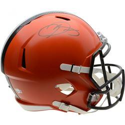 Odell Beckham Jr Signed Cleveland Browns Full-Size Helmet (Fanatics Hologram)