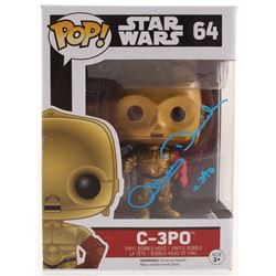 "Anthony Daniels Signed ""Star Wars: The Force Awakens"" C-3PO #64 Funko Pop! Vinyl Figure Inscribed ""C"