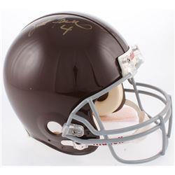 Brett Favre Signed Green Bay Packers Full-Size Authentic On-Field Throwback  Helmet (Favre COA)
