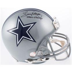 "Tony Dorsett Signed Dallas Cowboys Full-Size Authentic Helmet Inscribed ""SB XII Champs"" (Beckett COA"