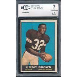 1961 Topps #71 Jim Brown (BCCG 7)