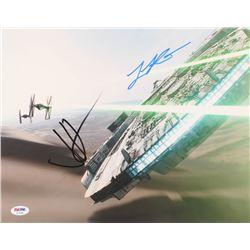 "J. J. Abrams  Lawrence Kasdan Signed ""Star Wars"" 11x14 Photo (PSA COA)"