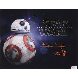 """Brian Herring Signed """"Star Wars"""" 11x14 Photo Inscribed """"BB-8"""" with Hand-Drawn BB-8 Sketch (PA COA)"""