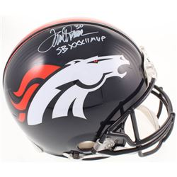 "Terrell Davis Signed Denver Broncos Full-Size Authentic On-Field Helmet Inscribed ""SB XXXII MVP"" (Ra"