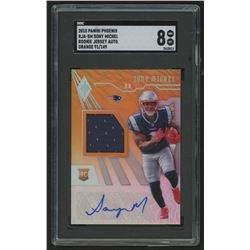 2018 Panini Phoenix Rookie Jersey Autographs Orange #10 Sony Michel / 149 (SGC 8)