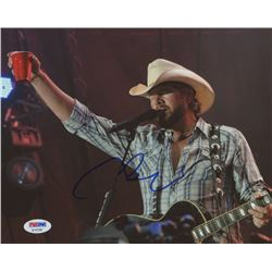 Toby Keith Signed 8x10 Photo (PSA COA)