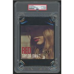 """Taylor Swift Signed """"Red"""" CD Cover (PSA Encapsulated)"""