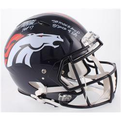 "Terrell Davis Signed Denver Broncos Full-Size Authentic On-Field Speed Helmet Inscribed ""HOF 17"", ""S"