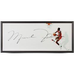 "Michael Jordan Signed Chicago Bulls ""The Show"" 20x46 Custom Framed Photo Display (UDA COA)"