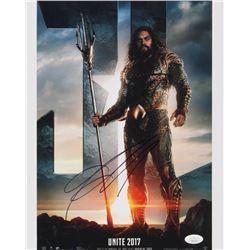 "Jason Momoa Signed ""Justice League"" 11x14 Photo (JSA COA)"