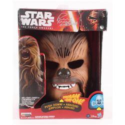 "Peter Mayhew Signed ""Star Wars The Force Awakens"" Chewbacca Mask Inscribed ""Chewbacca"" (Steiner COA)"