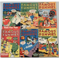"""Lot of (6) 1946-1947 """"Famous Funnies"""" Comic Books with #145  #147-151"""