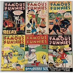 """Lot of (6) 1949 """"Famous Funnies"""" Comic Books with #175-180"""