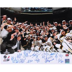 2011 Boston Bruins Stanley Cup Champions 16x20 Team-Signed by (15) with Brad Marchan, Patrice Berger