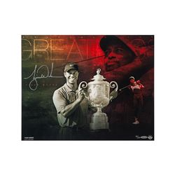 """Tiger Woods Signed """"Destined for Greatness"""" Limited Edition 16x20 Photo (UDA COA)"""