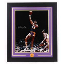 Kareem Abdul-Jabbar Signed Los Angeles Lakers 23.5x27.5 Custom Framed Photo (Beckett COA)