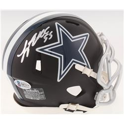 Leighton Vander Esch Signed Dallas Cowboys Matte Black Speed Mini-Helmet (Beckett COA)