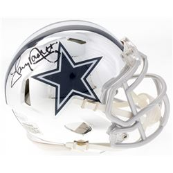 Tony Dorsett Signed Dallas Cowboys Mini Chrome Speed Helmet (JSA COA)