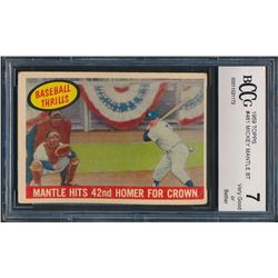 1959 Topps #461 Mickey Mantle BT / 42nd Homer (BCCG 7)