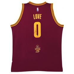 Kevin Love Signed 2016 NBA Champion Logo Cleveland Cavaliers Jersey (UDA COA)