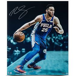 "Ben Simmons Signed Philadelphia 76ers ""Vision"" 20x24 Photo (UDA COA)"