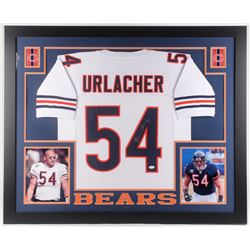 Brian Urlacher Signed Chicago Bears 35x43 Custom Framed Jersey (JSA Hologram)